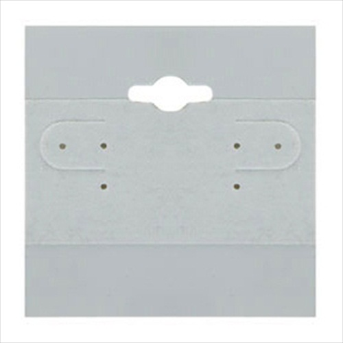 Earring Display Hang Cards Gray Flocked 2 x 2 Inch (100)