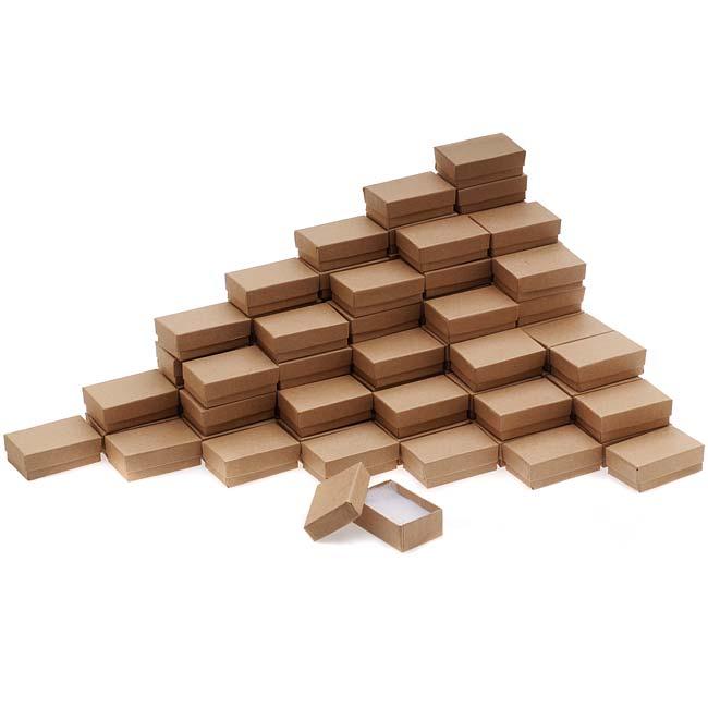 Kraft Brown Cardboard Jewelry Boxes 2.5 x 1.5 x 1 Inches (100)