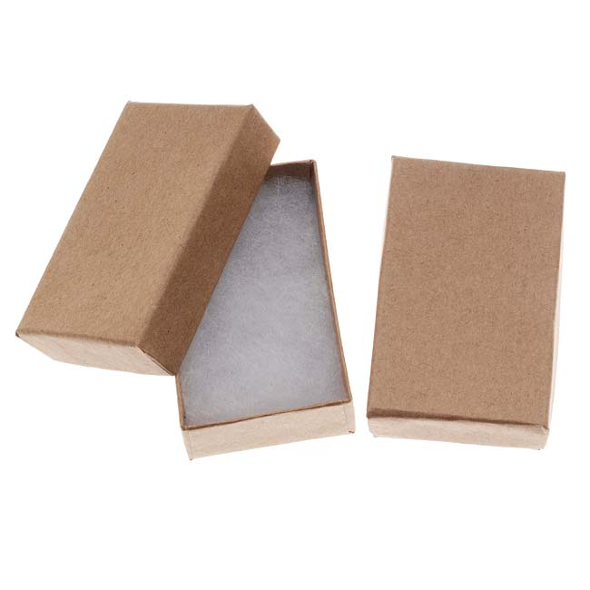 Kraft Brown Cardboard Jewelry Boxes 2.5 x 1.5 x 1 Inches (16)