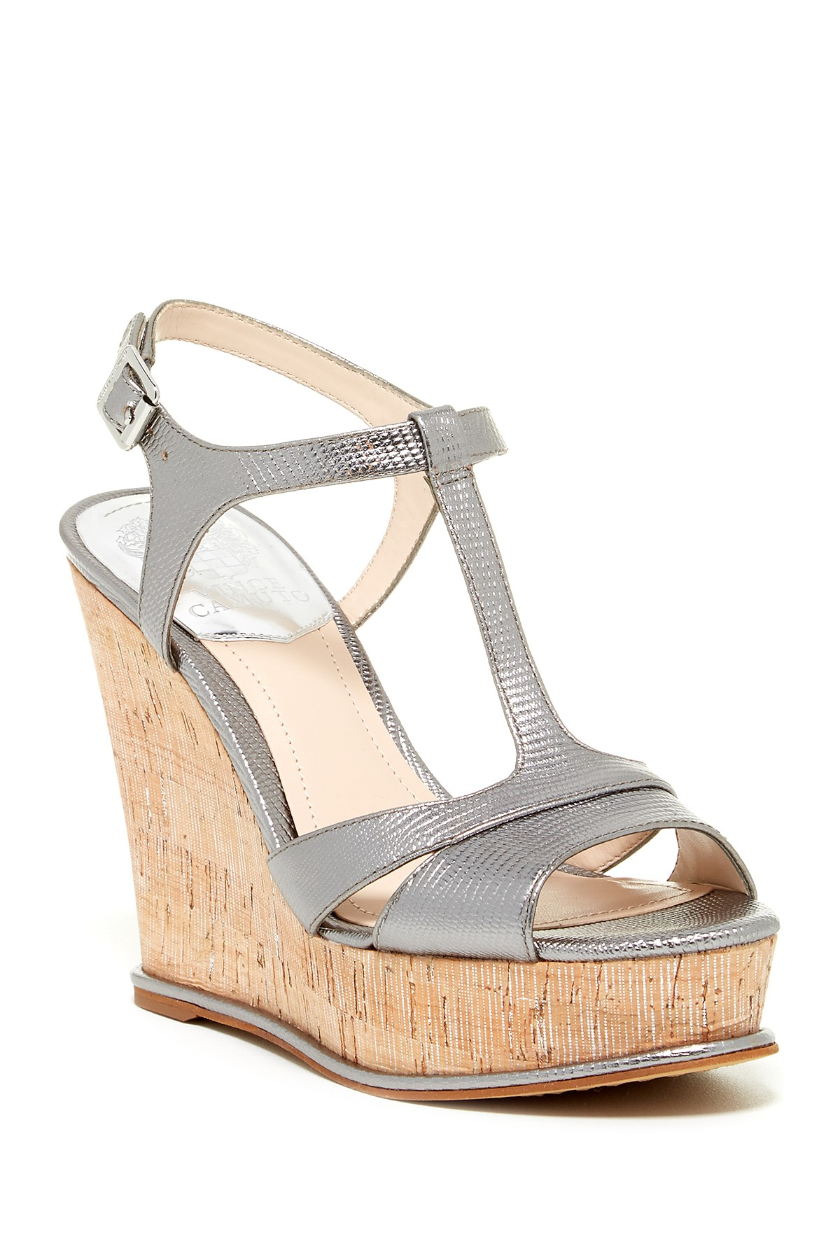 Vince Camuto Women S Inslo Wedge Sandal Silver Gleam