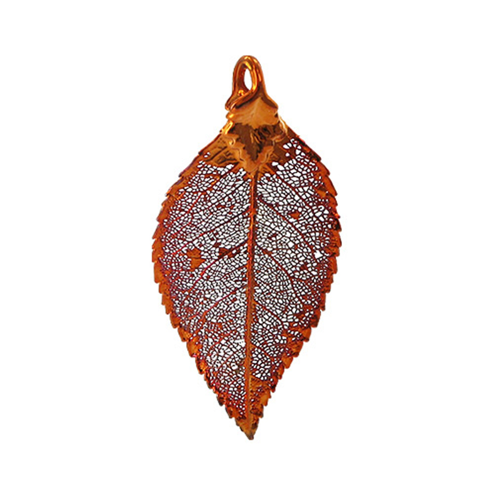 Gem Avenue Iridescent Copper Plated 25mm x 44mm Rose Leaf Pendant at Sears.com