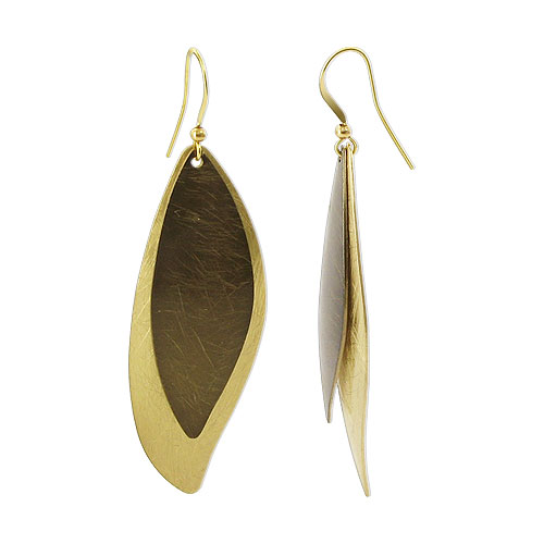 Gem Avenue Gold Tone 22mm x 57mm Scratch Style French Ear Wire Earrings at Sears.com