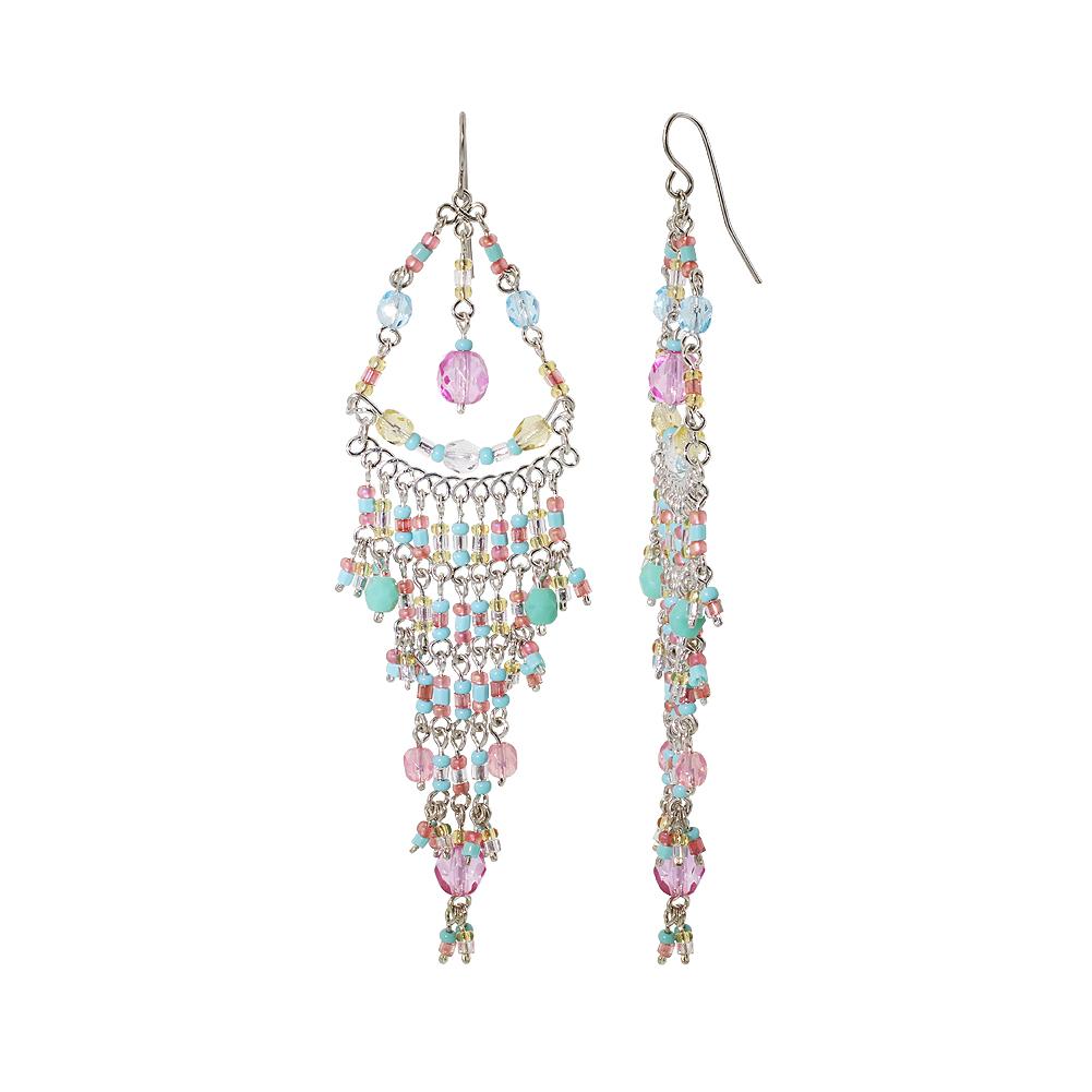 Gem Avenue Brazilian Chandelier Czech Seed Multicolor Beads French Wire Hook Earrings at Sears.com