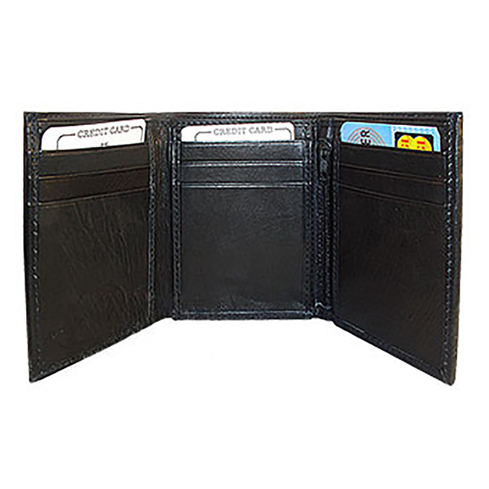 Gem Avenue Mens Trifold Leather Credit Card Holder Mens Wallet Available in Different Colors