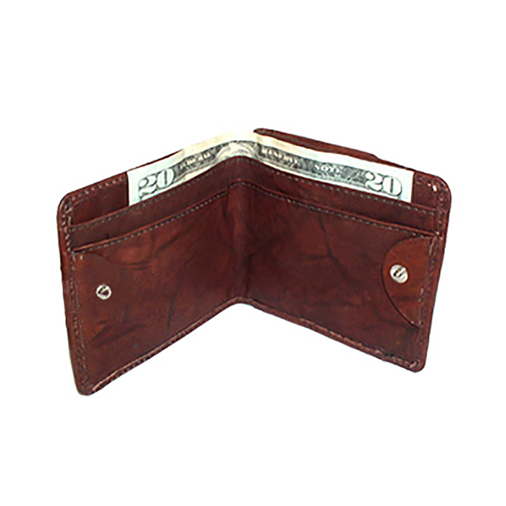 Gem Avenue Mens Genuine Leather Money and Credit Card Holder Wallet Available in Burgundy and Tan Colors