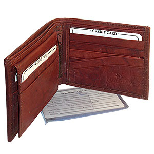 Gem Avenue Mens Bifold Flip ID Credit Card Holder Wallet Available in Different Colors