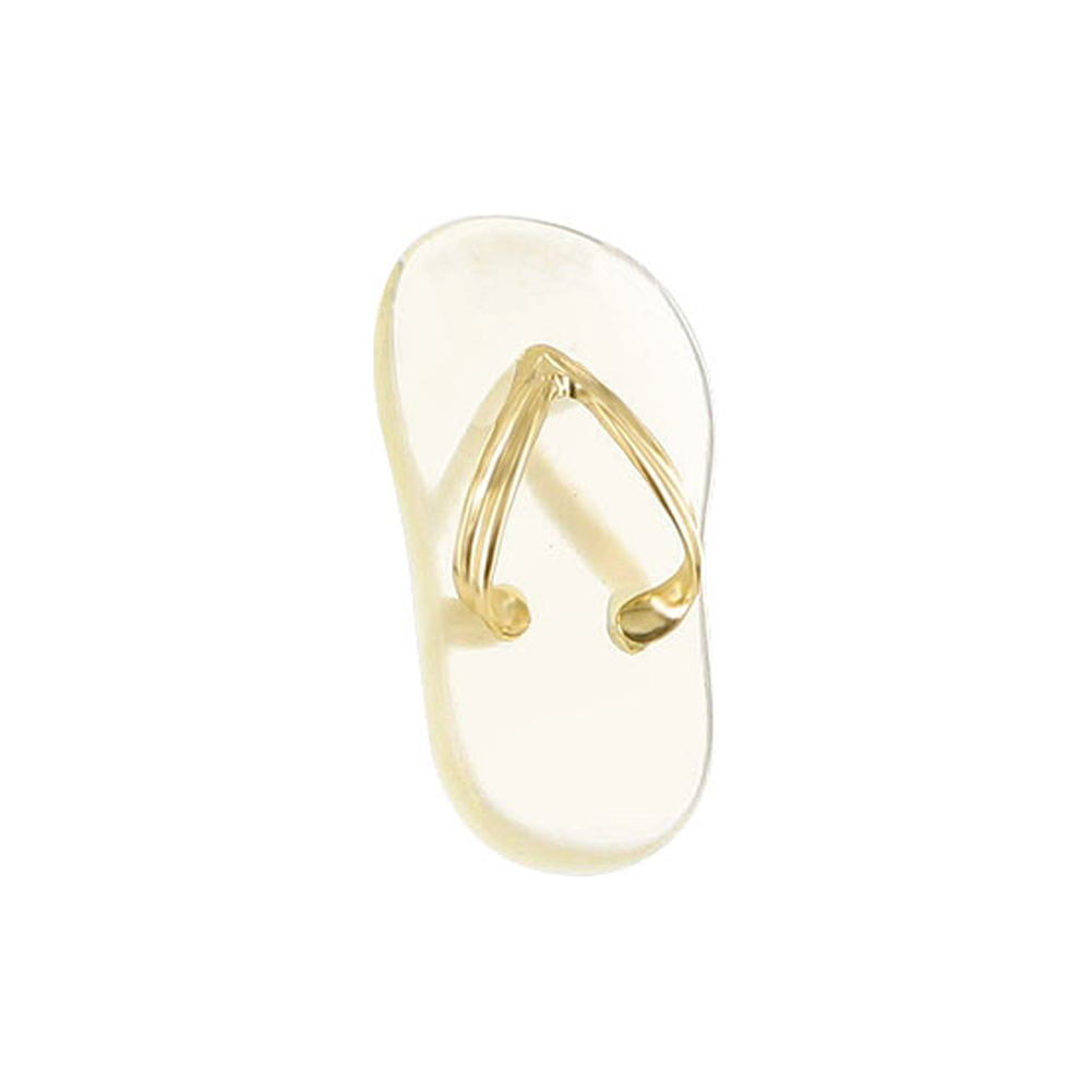 Gem Avenue 14KT Yellow Gold 10 x 20mm Mother of Pearl Flip Flop Dangle Pendant Charm at Sears.com