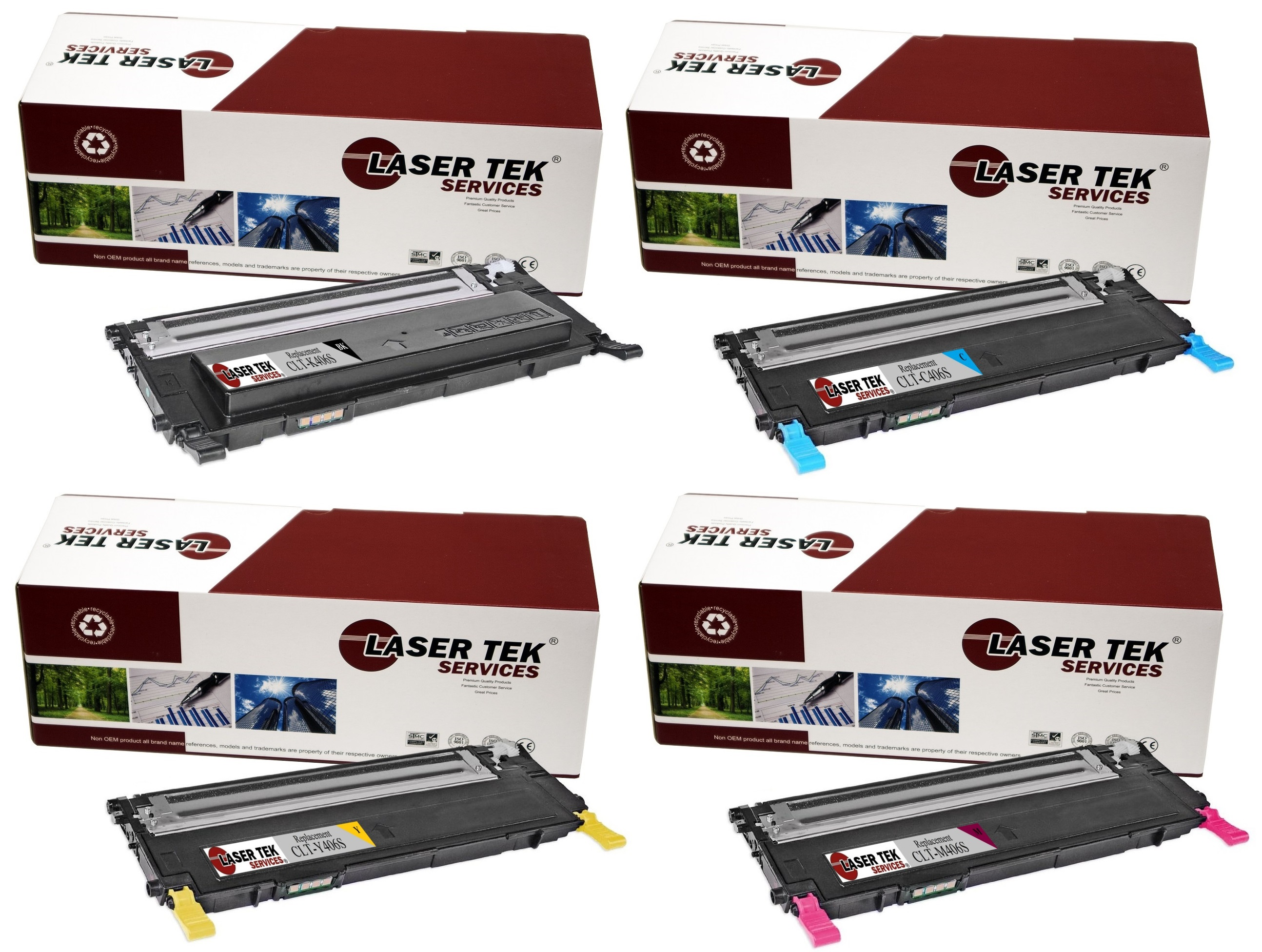4pk clt 406s replacement toner cartridges for the samsung clp 365w clx 3305fw ebay. Black Bedroom Furniture Sets. Home Design Ideas