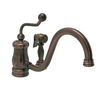 huntington platinum antique bronze kitchen faucet single handle faucet