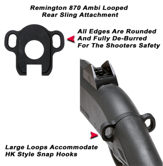 GG&G Remington 870, 1100, 1187 Single Point Ambidextrious Sling Attachment, by GG&G at Sears.com