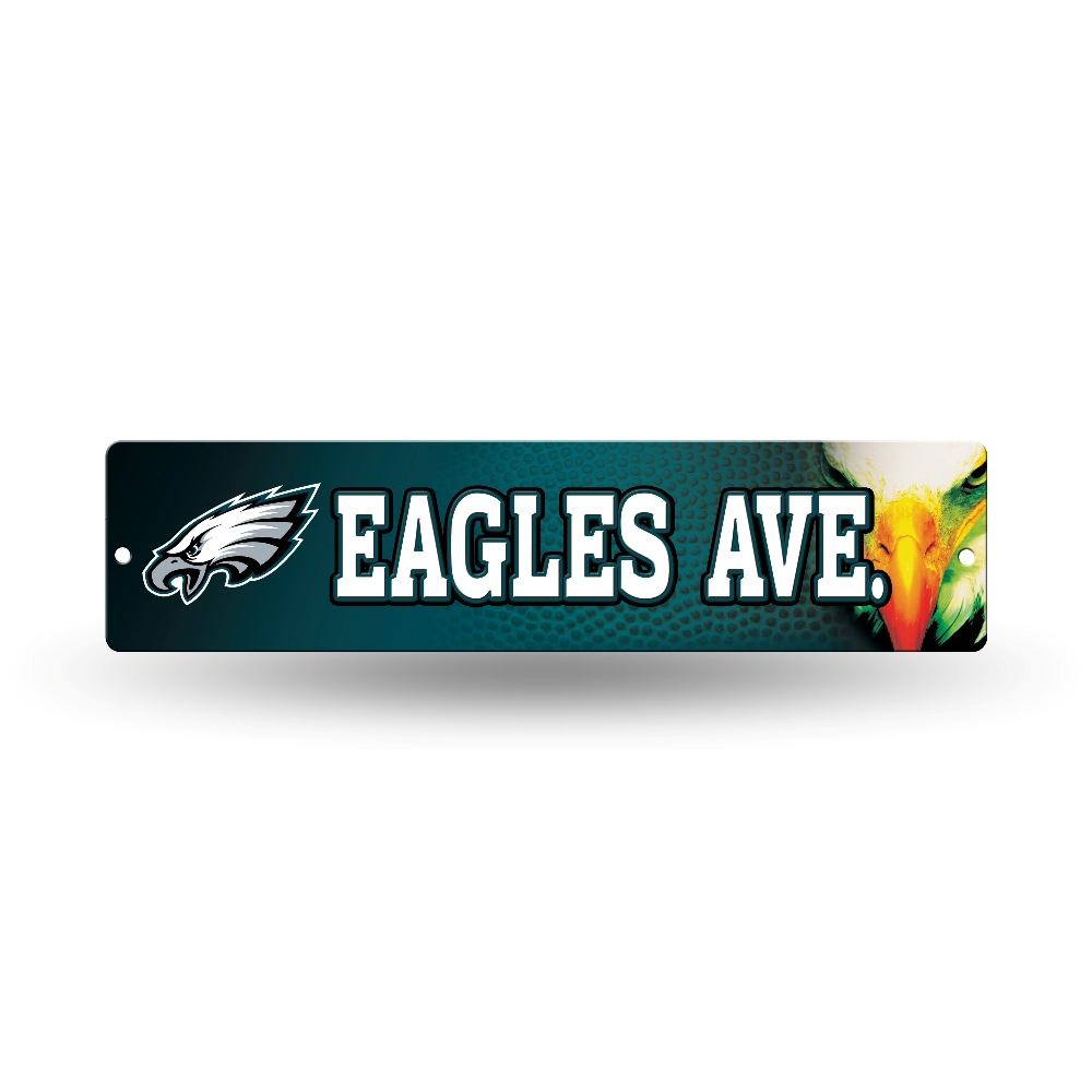 Sports Team Man Cave Signs : Nfl teams officially licensed quot football street sign