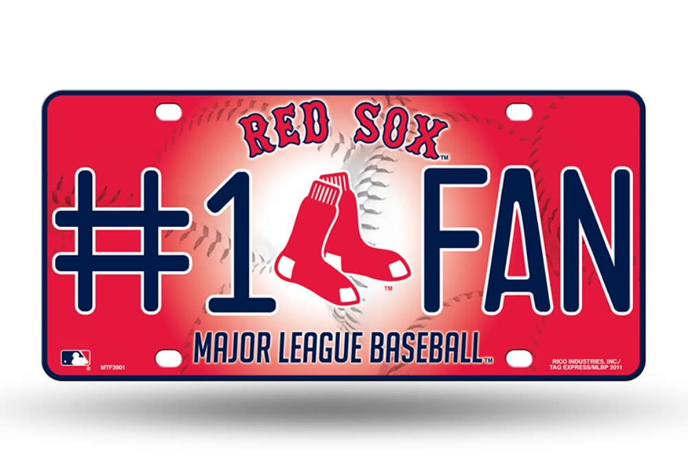 MLB Teams - #1 Baseball Fan Metal License Plate Tag Auto Car Truck ...