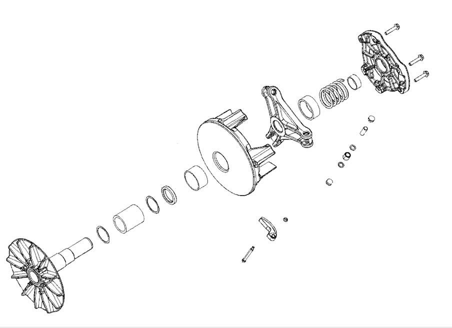 polaris drive clutch assy 08 rzr800 efi 09 rzr 800 efi all