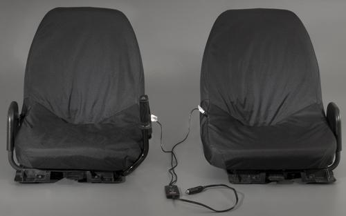 Yamaha Rhino Heated Seat Cover Kit Black Driver