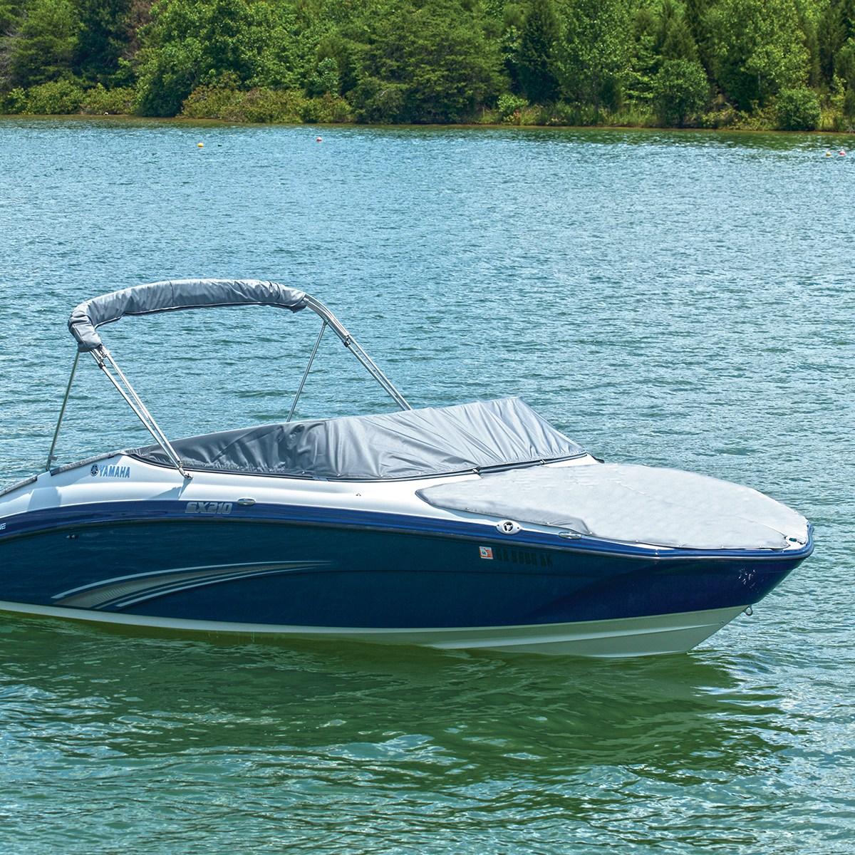 Yamaha charcoal bow cover 15 ar192 sx192 17 ar195 sx195 for Yamaha ar230 boat cover