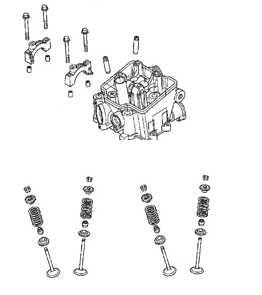 Cylinder Head Valve Spring Rebuild Kit For Yamaha: Honda Cylinder Head Valves Springs Kit 04 06 CRF250R CRF