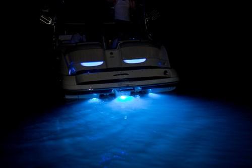 yamaha boat h2o 15 led underwater transom lighting blue ebay. Black Bedroom Furniture Sets. Home Design Ideas