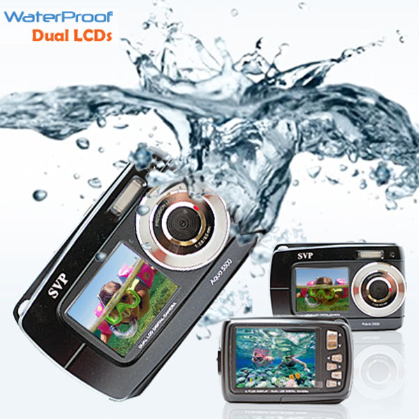 "SVP 18MP Max. Underwater Digital Camera & Video Recorder - Dual LCDs Screen (2.7"" + 1.8"" TFT) - Waterproof up to 3 meters at Sears.com"