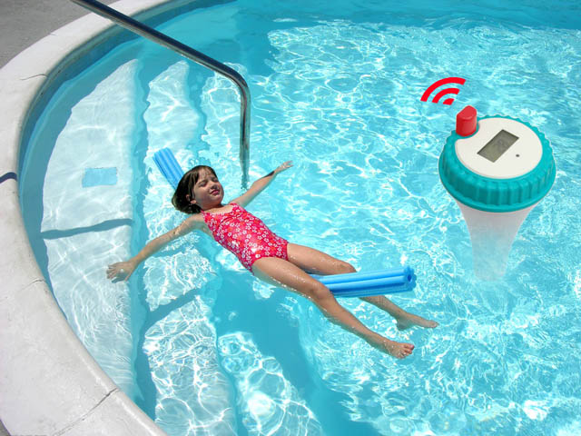 Dr Tech 2 In 1 Wireless Swimming Pool Thermometer Outdoor Temperature Sensor Ebay