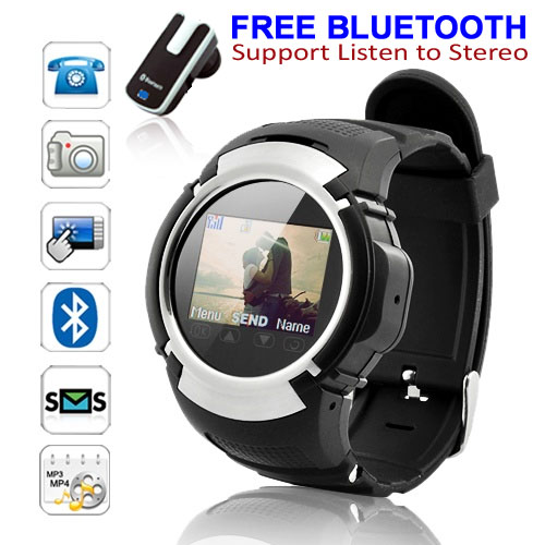 Indigi Unlocked! Stylish GSM Cool Touch Screen Watch Phone w/ Free Bluetooth Earphone [aT&T / T-Mobile] at Sears.com