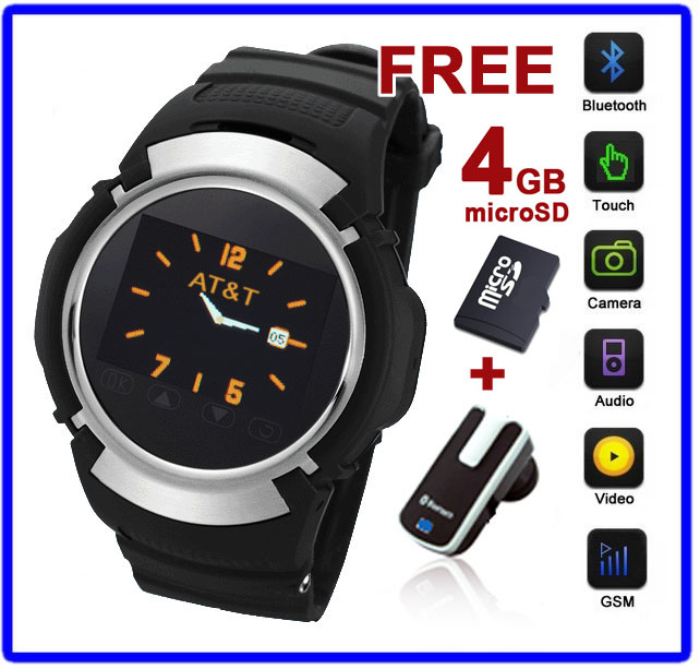 Indigi Unlocked! Stylish GSM Cool Touch Screen Watch Phone w/ Free Bluetooth + microSD 4GB [aT&T / T-Mobile] at Sears.com