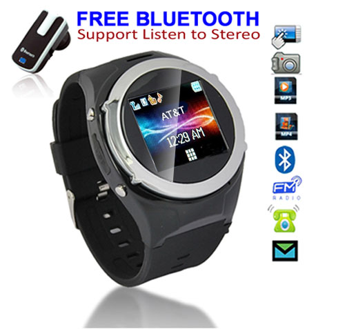 Indigi Unlocked! GSM Bluetooth Multimedia Watch Cell Phone w/ Spy Camera Camcorder MP3 MP4 FM Radio etc. at Sears.com