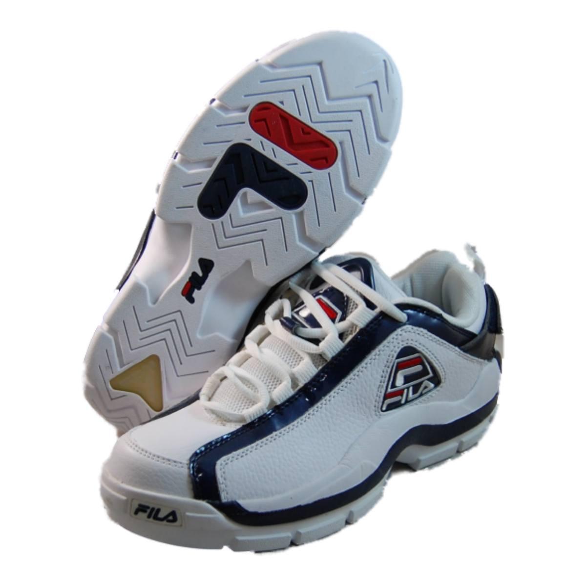fila mens 96 low white basketball shoes 1vb90039 127 ebay. Black Bedroom Furniture Sets. Home Design Ideas