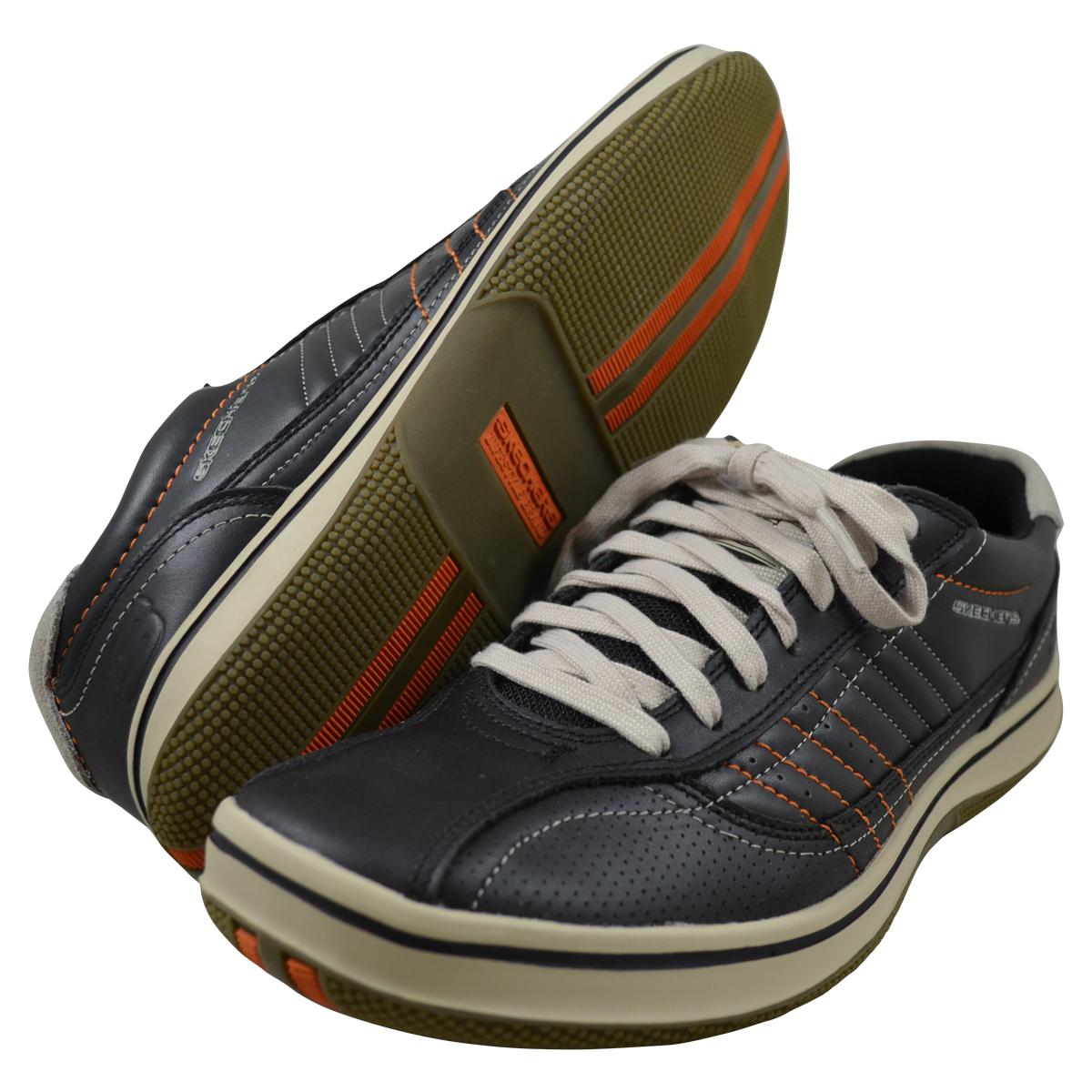 Skechers Mens Piers Black Fashion Sneakers 50620-BLK | EBay