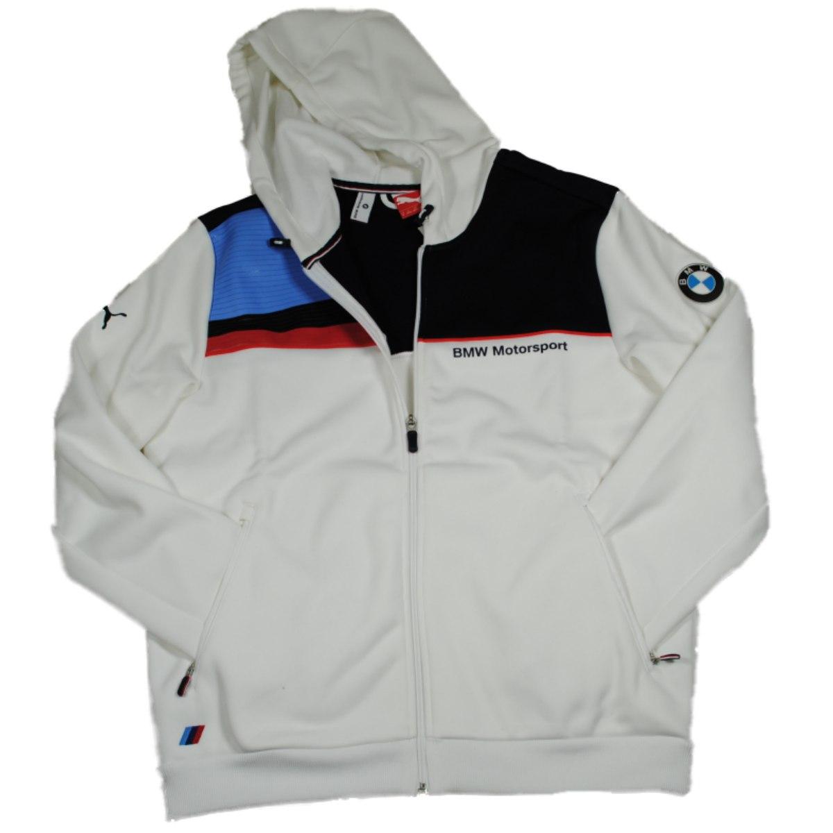 puma mens white bmw bonded jacket jacket 565629 01 m ebay. Black Bedroom Furniture Sets. Home Design Ideas
