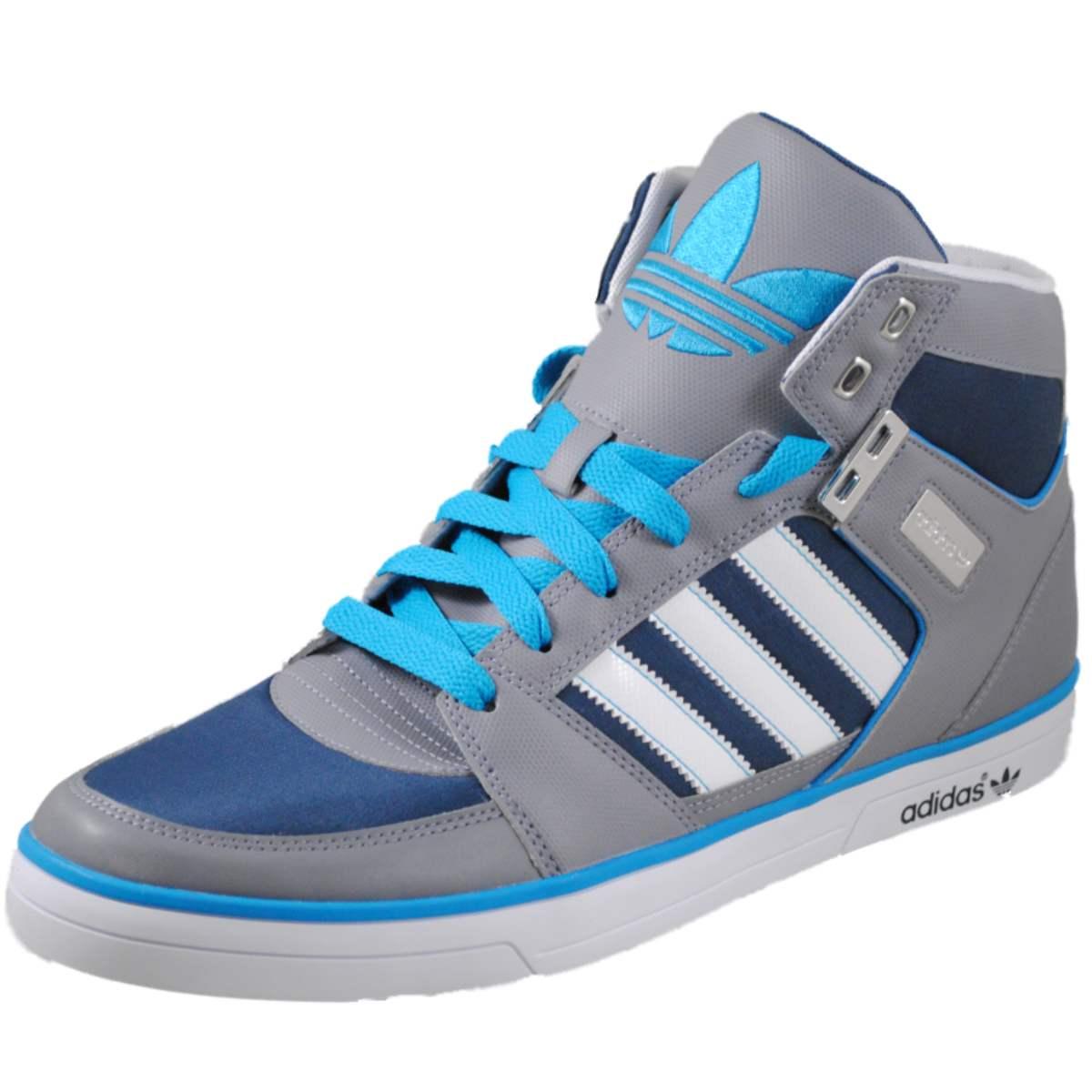 Adidas Mens Hardcourt Hi II Blue fashion sneakers