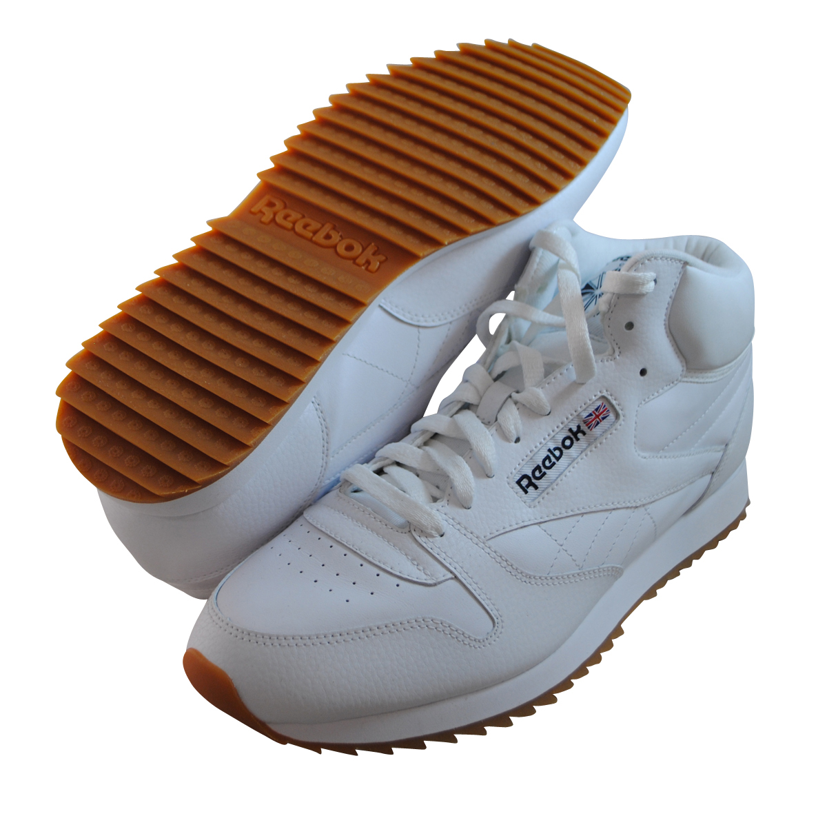 mens reebok classic leather ripple casual shoes