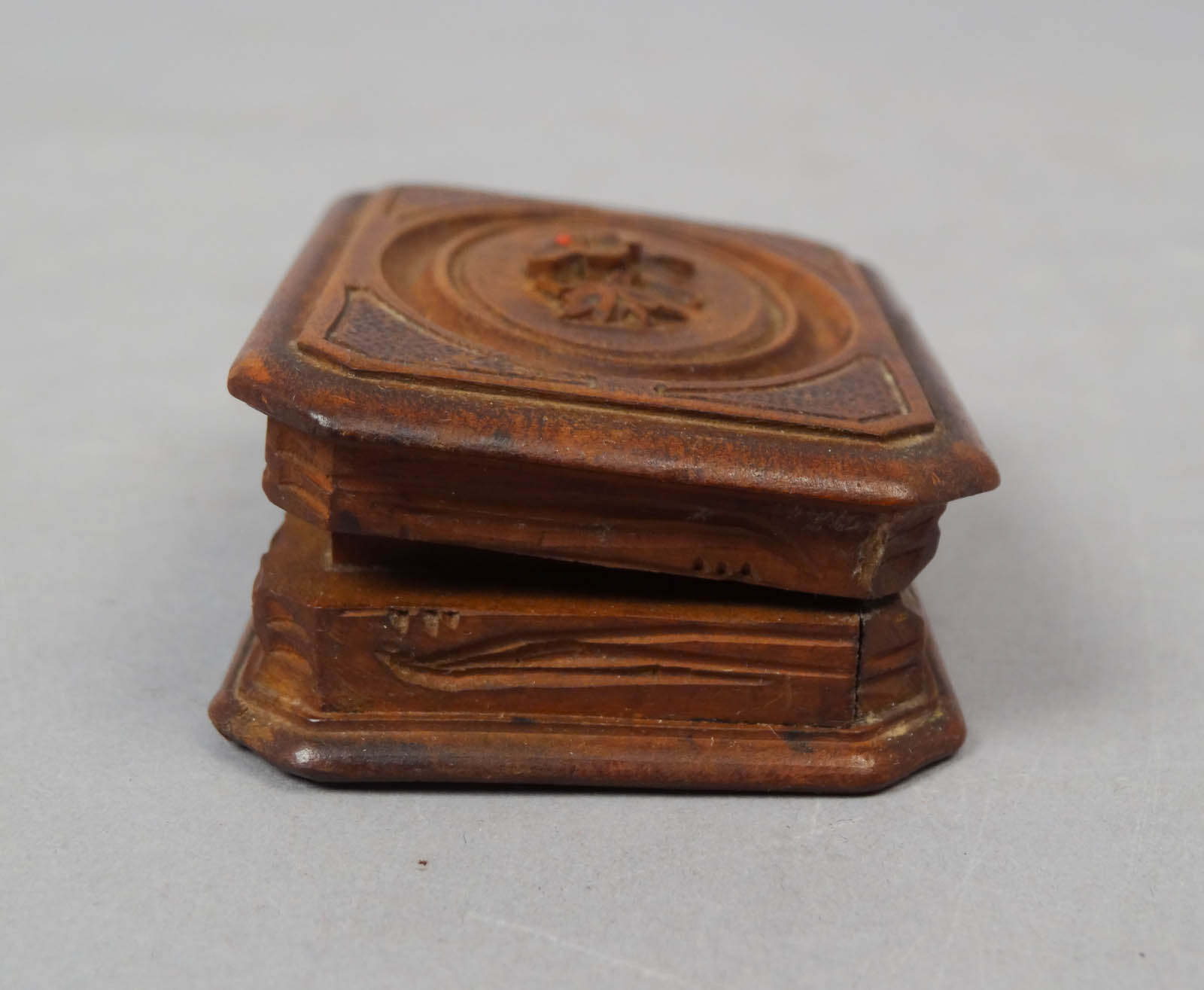 Charming antique c victorian era carved walnut double