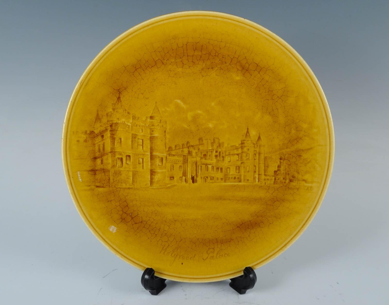 antique c1900 choisy le roi faience souvenir plate scot holyrood palace ebay