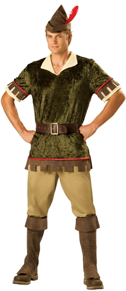 In Character Mens Robin Hood Archer Outfit Adult Halloween Costume