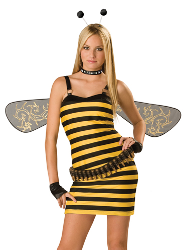 In Character Killer Bee Funny TEEN Bumblebee Halloween Costume