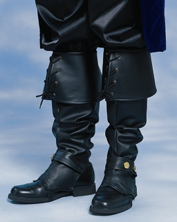 mens faux leather pirate costume boot top covers