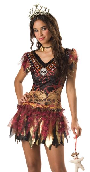 Queen Voodoo Girl Witch Doctor TEEN Halloween Costume | eBay Voodoo Queen Costume