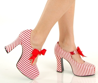 Pleaser Christmas Candy Cane High Heel Costume Shoes at Sears.com