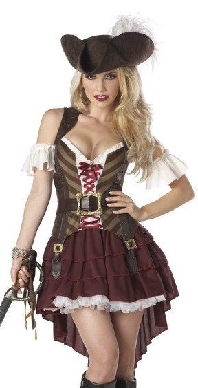 Sexy Womens Medieval Pirate Adult Fancy Dress Halloween Costume | eBay