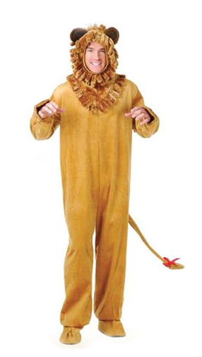 New Fun Mens Adult Cowardly Lion Halloween Costume | eBay