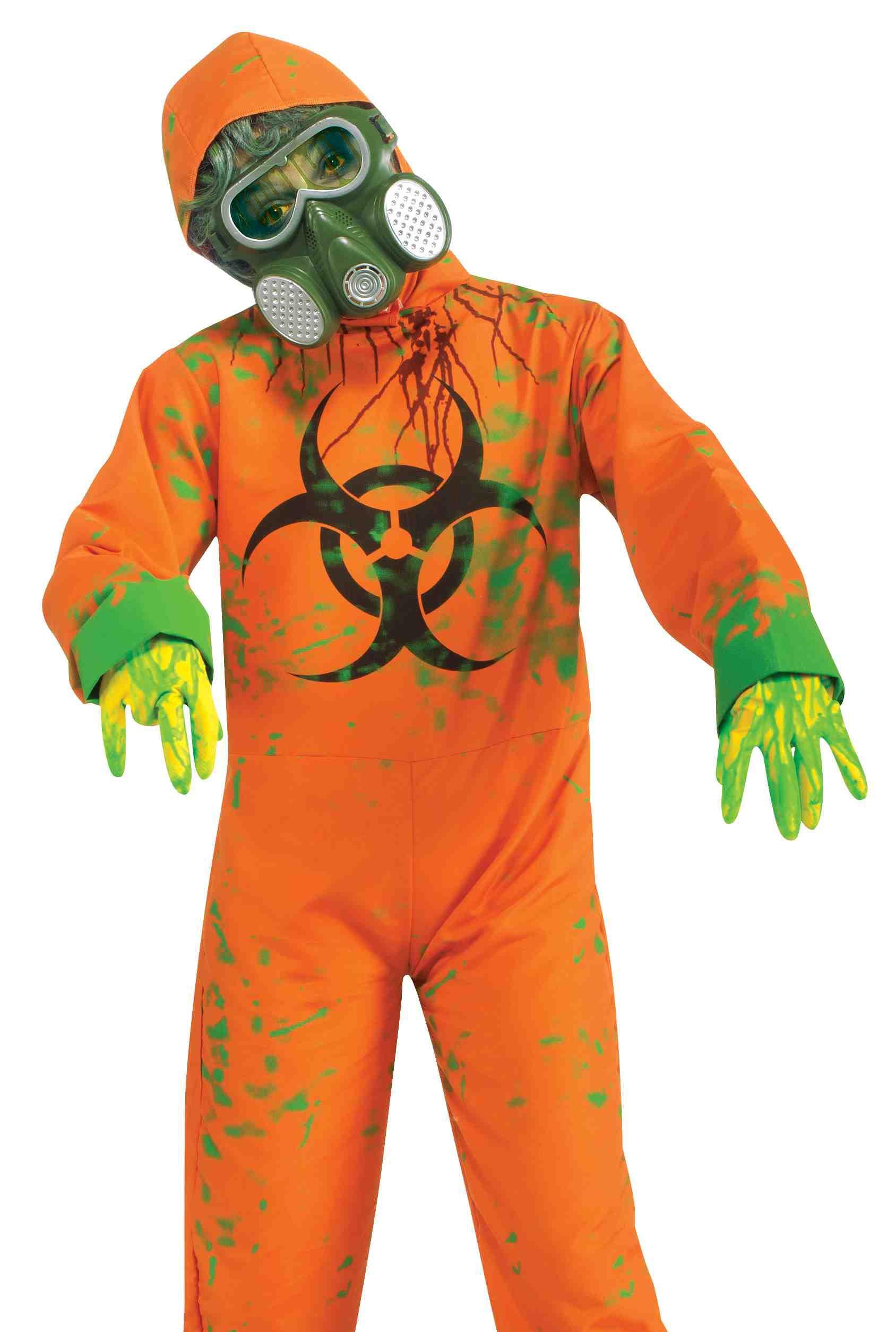 Scary Biohazard Mutant Zombie Kids Hazmat Suit Halloween