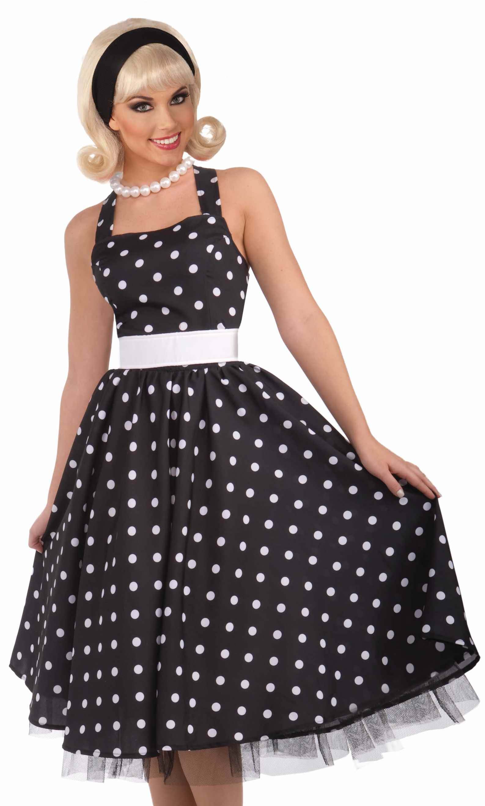 Sexy womens retro 50s housewife dress halloween costume ebay for Classic 50s housewife