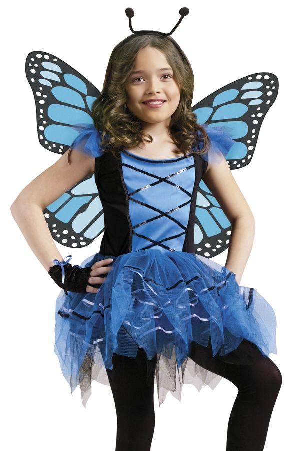 Girls Blue Butterfly Ballerina Fairy Halloween Costume | eBay