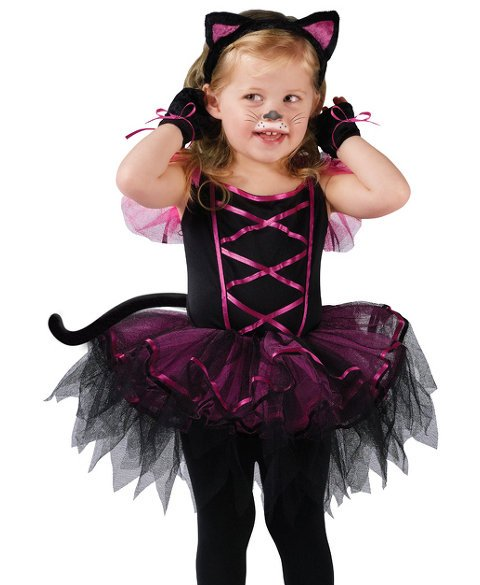 Toddler Girls Kitty Cat Ballerina Halloween Costume | eBay