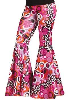 Womens Sexy 60s 70s Hippie Halloween Costume Bell Bottom Pants | eBay