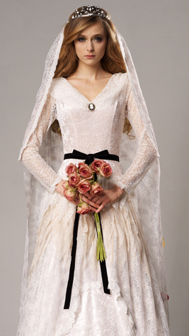 Womens Gothic Corpse Bride Ghost Wedding Halloween Fancy