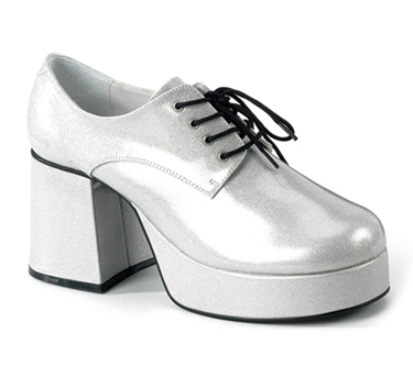 Pleaser Silver 70s Disco Retro Pimp Costume Mens Platform Shoes at Sears.com