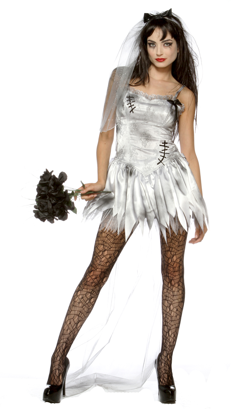 New sexy zombie bride wedding corpse halloween costume ebay for Sexy wedding dress costume