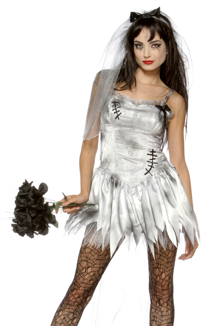 sexy zombie bride wedding corpse fancy dress halloween costume ebay