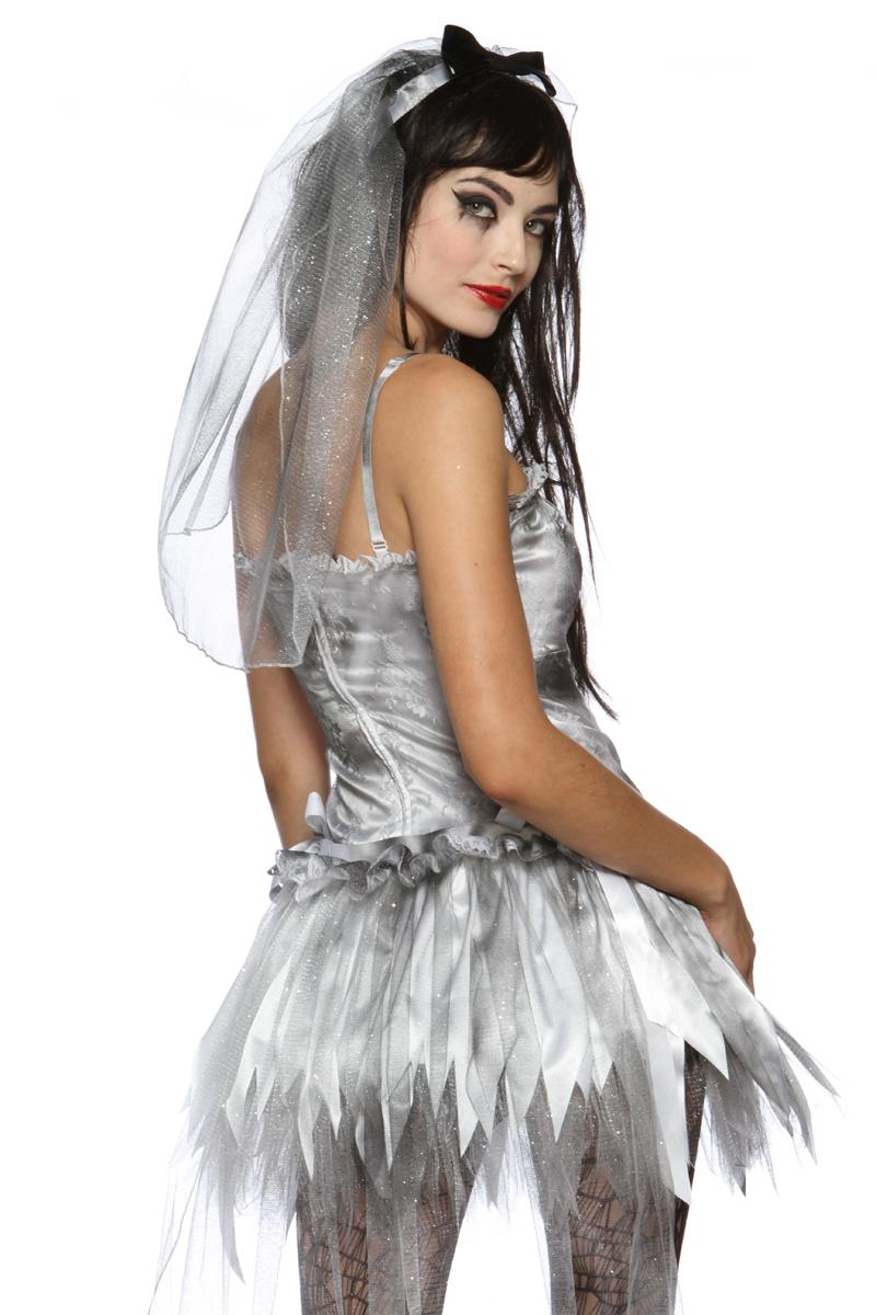 New Sexy Zombie Bride Wedding Corpse Halloween Costume Ebay